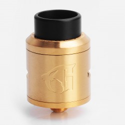 Goon 1.5 Style RDA Rebuildable Dripping Atomizer w/ BF Pin - Gold, Stainless Steel, 24mm Diameter