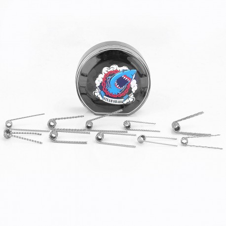 Authentic VapeThink Steam Shark Ten-in-One Kanthal A1 Pre-coiled heating wire Trial Kit - (10 PCS)