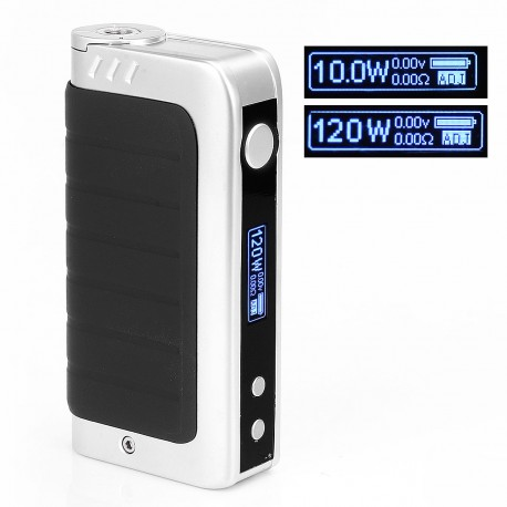Authentic Pioneer4you IPV 4S 120W Temperature Control VW Variable Wattage Box Mod - Silver, 10~120W, 2 x 18650
