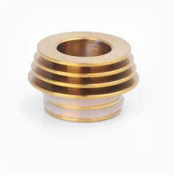 810 to 510 Heat Dissipation Drip Tip Adapter for RDA / RTA / Clearomizer - Gold, Stainless Steel
