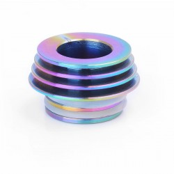 810 to 510 Heat Dissipation Drip Tip Adapter for RDA / RTA / Clearomizer - Rainbow, Stainless Steel