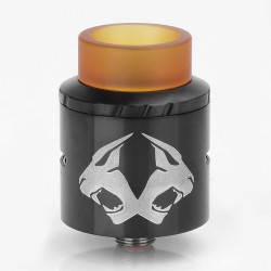 Authentic OBS Cheetah II RDA Rebuildable Dripper Atomizer - Black, Stainless Steel + PEI, 24mm Diameter