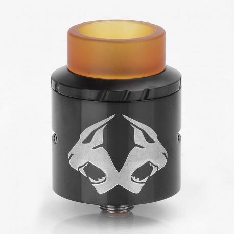 Authentic OBS Cheetah II RDA Rebuildable Dripper Atomizer - Black, Stainless Steel + PEI, 24mm Diameter