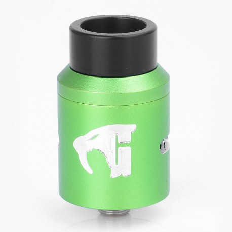 Goon 1.5 Style RDA Rebuildable Dripping Atomizer - Green, Aluminum + Stainless Steel, 22mm Diameter