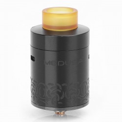 Authentic GeekVape Medusa Reborn RDTA Rebuildable Dripping Tank Atomizer - Black, Stainless Steel, 3.5ml, 25mm Diameter