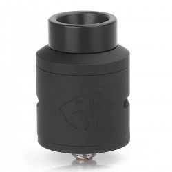 Goon 1.5 Style RDA Rebuildable Dripping Atomizer w/ BF Pin - Black, Stainless Steel, 24mm Diameter