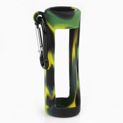 Authentic Iwodevape Protective Case Sleeve w/ Hanging Buckle for 60ml E-juice Bottle - Black + Green, Silicone