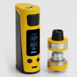 Authentic Joyetech eVic Primo Mini 80W TC VW Mod with ProCore Aries Atomizer Starter Kit - Yellow, 1~80W, 4ml, 1 x 18650