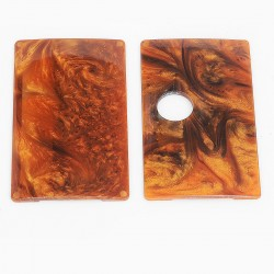 SXK Replacement Cover Panel for BB Style Box Mod - Gold + Orange, Resin