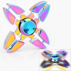 Authentic Vapjoy Crab Hand Spinner Focus Fidget Toy EDC - Rainbow, Aluminum