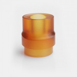 810 Whistle Flat Mouthpiece Drip Tip for RDA / RTA / Clearomizer - Brown, PEI