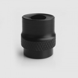 810 Whistle Flat Mouthpiece Drip Tip for RDA / RTA / Clearomizer - Black, Acrylic