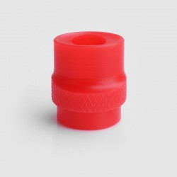 810 Whistle Flat Mouthpiece Drip Tip for RDA / RTA / Clearomizer - Red, Acrylic