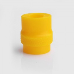 810 Whistle Flat Mouthpiece Drip Tip for RDA / RTA / Clearomizer - Yellow, Acrylic