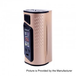 Authentic Sigelei Duo-3 2-Cover Version 235W TC VW Variable Wattage Box Mod - Gold, 10~235W, 2 / 3 x 18650