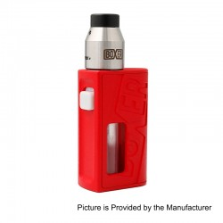 Boxer Style BF Squonk Mechanical Mod + Boxer Style RDA Kit - Red, ABS + Stainless Steel, 1 x 18650