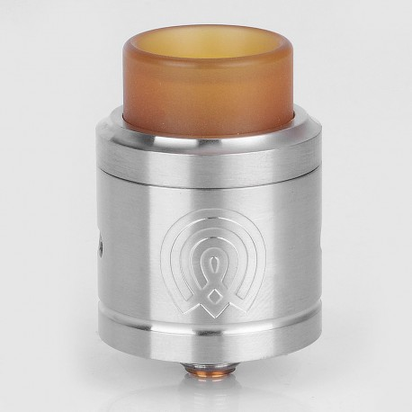 Authentic Wotofo VAPOROUS RDA Rebuildable Dripping Atomizer w/ BF Pin - Silver, 316 Stainless Steel, 24mm
