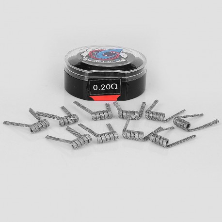 Authentic VapeThink Bird's Nest Kanthal A1 Pre-Coiled Heating Wire - Silver, 0.2 Ohm, 24 GA x 3 + (26 GA + 32GA), (10 PCS)