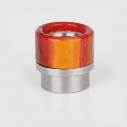 Replacement Drip Tip for Kennedy 24 / 25 / Goon / Goon LP / Battle / Reload - Red + Yellow, Resin + Stainless Steel, 15mm