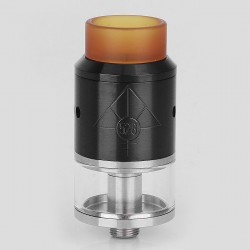 Lost Art Goon Style RDTA Rebuildable Tank Atomizer - Black, Stainless Steel + Glass, 2.5ml, 22mm Diameter