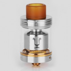 Authentic KAEES Solomon RTA Rebuildable Tank Atomizer - Silver, Stainless Steel, 4ml, 24mm Diameter