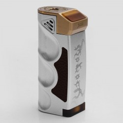 Moloch Style Mechanical Box Mod - Silver, Brass + Aluminum, 1 x 18650