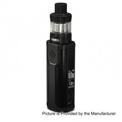 Authentic Wismec Sinuous P80 80W TC VW Variable Wattage Box Mod + Elabo Mini Tank Kit - Black, 1~80W, 1 x 18650, 2ml