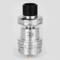 Authentic GeekVape Ammit 25 RTA Rebuildable Tank Atomizer - Silver, Stainless Steel, 2ml / 5ml, 25mm Diameter