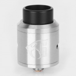 Goon 1.5 Style RDA Rebuildable Dripping Atomizer w/ BF Pin - Silver, Stainless Steel, 24mm Diameter