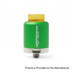 Kennedy 25 Style RDA Rebuildable Dripping Atomizer - Green, Aluminum, 25mm Diameter