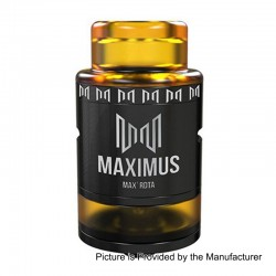 Authentic Oumier Maximus Max RDTA Rebuildable Dripping Tank Atomizer - Black, Stainless Steel, 3ml, 24mm Diameter