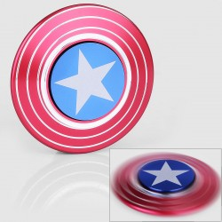 Captain American Shield Hand Spinner Fidget Toy EDC - Red, Aluminum, Ceramic Bearings