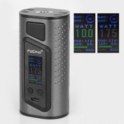 Authentic Sigelei Duo-3 2-Cover Version 255W TC VW Variable Wattage Box Mod - Gun Metal, 10~255W, 2 / 3 x 18650