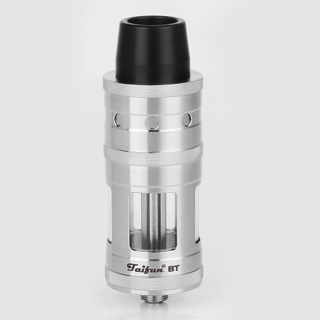SXK Taifun BT Style RTA Rebuildable Tank Atomizer - Silver, 316 Stainless Steel, 5ml, 23mm Diameter