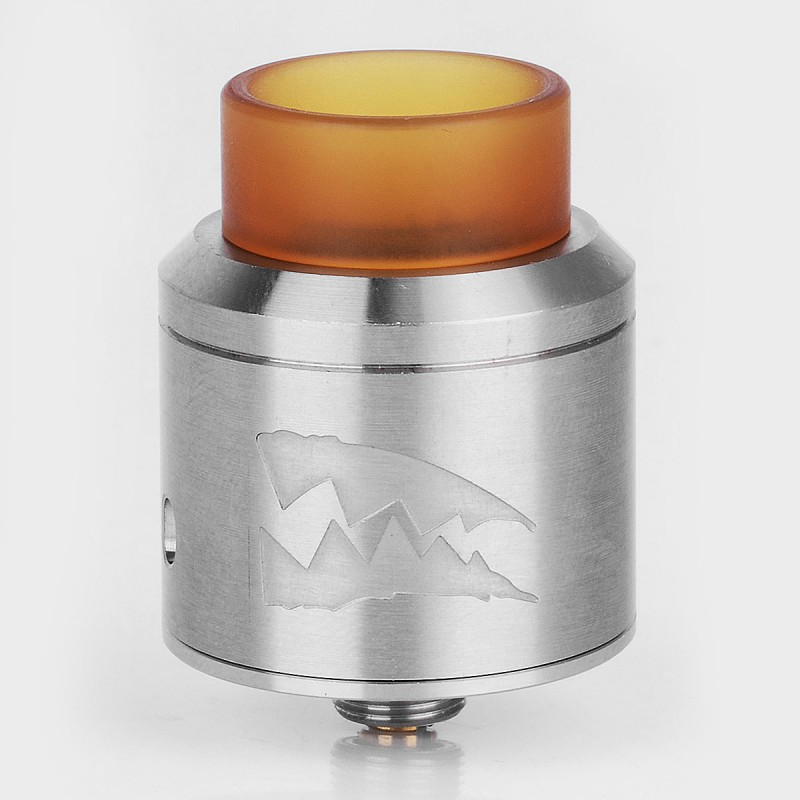 Deathwish Death Wish Style RDA Rebuildable Dripping Atomizer BF Pin - Silver, Stainless Steel, 24mm Diameter