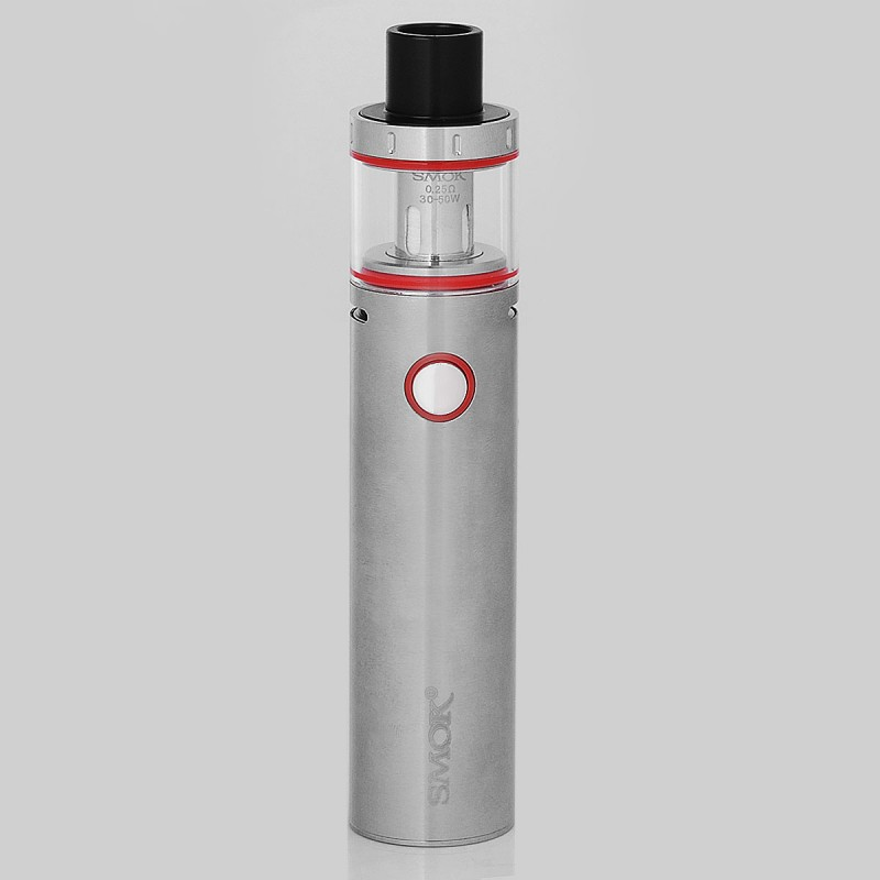 Authentic Smok Vape Pen Plus 3000mah Silver 4ml 0 25 Ohm