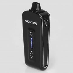 Authentic AirisVape Nokiva 2200mAh Portable Phone-mate Dry Herb Vaporizer - Black, 0.5~0.7 Ohm, 149~224'C / 300~435'F