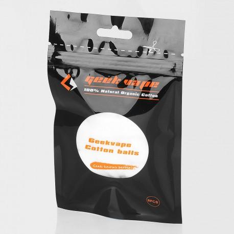 Authentic GeekVape Cotton Balls for Electronic Cigarettes - White, Organic Cotton