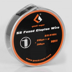 Authentic Geekvape SS316L Fused Clapton Heating Resistance Wire for RBA / RDA / RTA Atomizers - 26GA x 2 + 30GA, 3m (10 Feet)