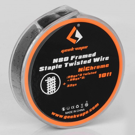 Authentic Geekvape N80 Framed Staple Twisted Heating Wire for RDA / RTA - (26GA x 2 Twisted + 26GA x 2) + 32GA, 3m (10 Feet)