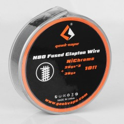 Authentic Geekvape N80 Fused Clapton Wire Heating Wire for RDA / RTA - 26GA x 3 + 36GA, 3m (10 Feet)