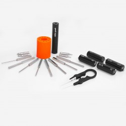 8-in-1 DIY Coil Jig Tool Kit - 1.5/2.0/2.25/2.5/2.75/3.0/3.5/4.0mm Winding Rods + Screwdriver Drill Bits + Ceramic Tweezers