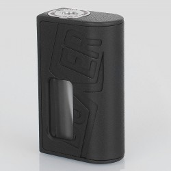 Boxer Style BF Squonk Mechanical Mod - Black, ABS, 1 x 18650, 8ml Dropper Bottle