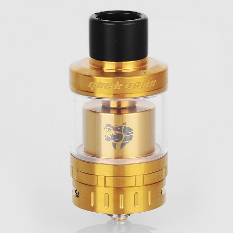 Authentic GeekVape Ammit 25 RTA Rebuildable Tank Atomizer - Gold, Stainless Steel, 2ml / 5ml, 25mm Diameter