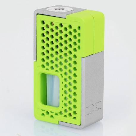 Authentic YiLoong SQ XBOX MOD-03 3D Printed Squonk Mechanical Box Mod - Green, 1 x 18650, 13ml Dropper Bottle