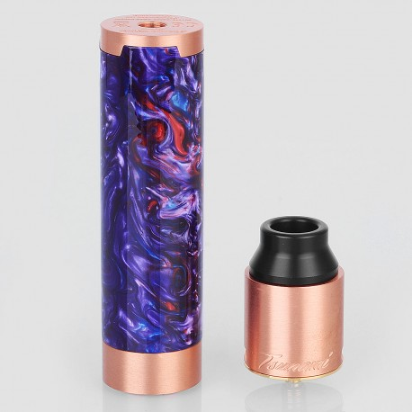 Authentic GeekVape Tsunami Mechanical Mod + Tsunami Pro RDA Kit - Random Color, Copper + Resin, 1 x 18650, 25mm Diameter