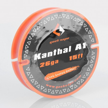 Authentic Geekvape Kanthal A1 Heating Resistance Wire for RBA / RDA / RTA Atomizers - 26GA, 0.4mm x 5m (15 Feet)