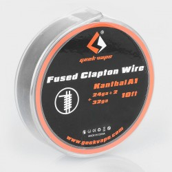 Authentic Geekvape Kanthal A1 Fused Clapton Heating Wire for RBA / RDA / RTA - 24GA x 2 + 32GA, 3m (10 Feet)