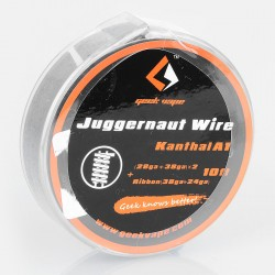 Authentic Geekvape Kanthal A1 Juggernaut Heating Wire for RDA / RTA - (28GA + 38GA) x 2 + Ribbon (38GA x 24GA), 3m (10 Feet)