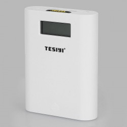 Authentic Tesiyi T4 Smart Digital Charger for 18650 Battery - White, 4 x Slots